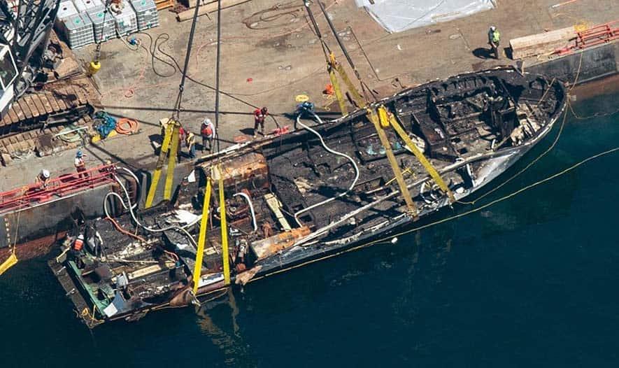 MV Conception at port