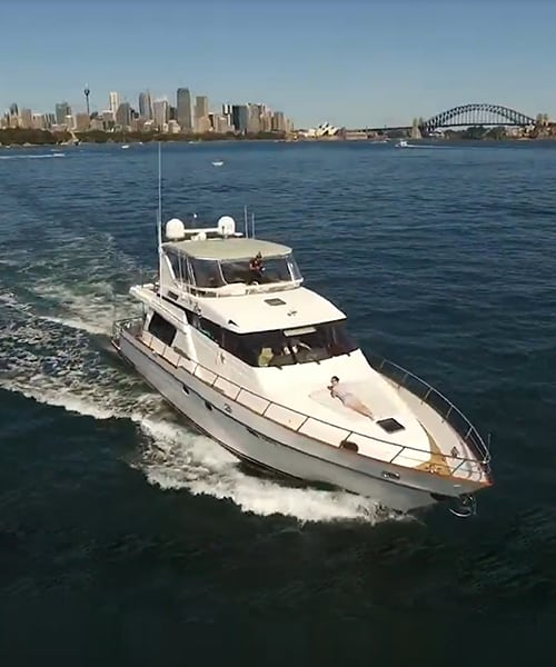 Luxury Charter Vessel Enigma In Sydney Harbour Waters